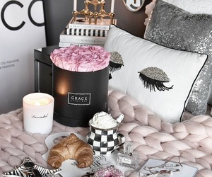 bedroom, home, and pillows image