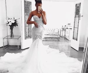 dress, wedding, and girl image