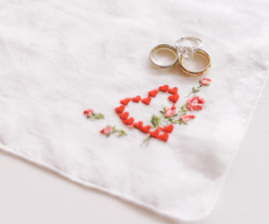 embroidery, engagment, and flowers image