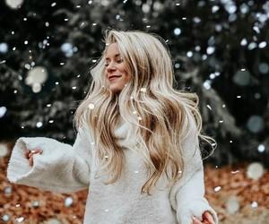 girl, fashion, and snow image