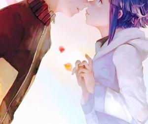 anime, couple, and hinata image