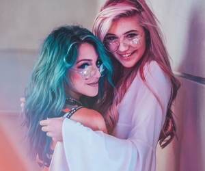 besties, blue, and colors image