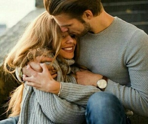 love, couple, and hug image