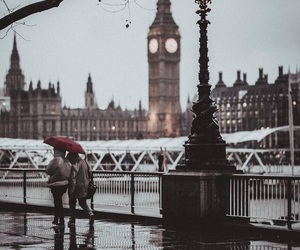 rain, london, and street image