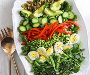 salad, cucumber, and healthy image