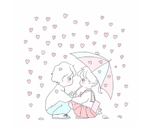 couple, illustration, and cute image