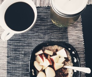 apple, coffee, and healthy image