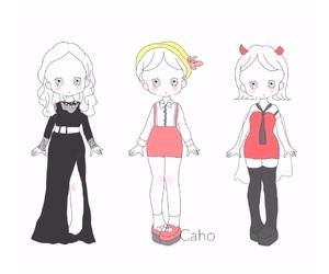 fashion, illustration, and おんなのこ image