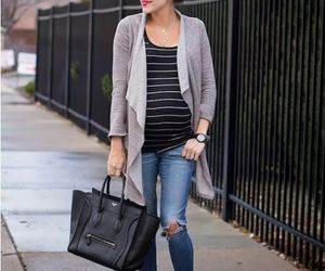 pregnant style and maternity outfit image