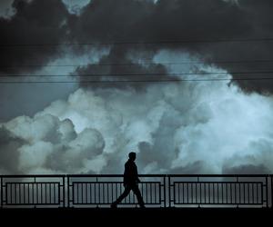 clouds, dark, and grunge image