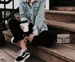 fashion, vans, and denim image