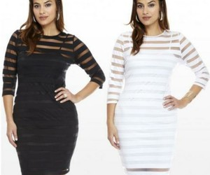 classic white dress, classic black dress, and sexy plus-size apparel image