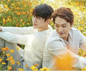 baekhyun, exo, and kai image