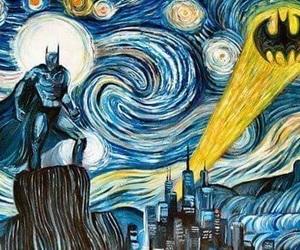 batman, art, and van gogh image