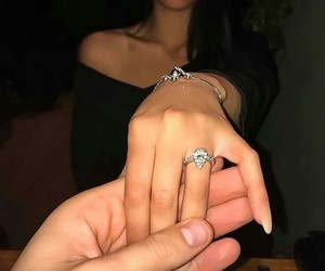 engagement ring, relationship couples, and relationships couple image