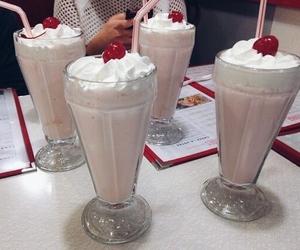 milkshake, cherry, and food image