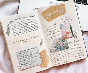 journal, bullet journal, and january image