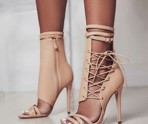 beautiful, heels, and pink image