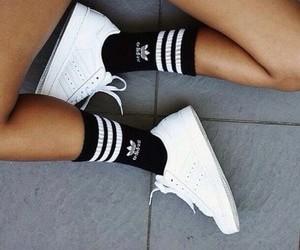adidas, socks, and adidas shoes image