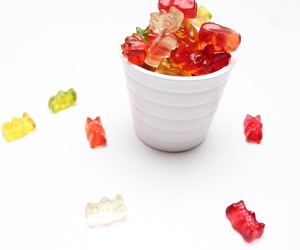 candy, rainbow, and red image
