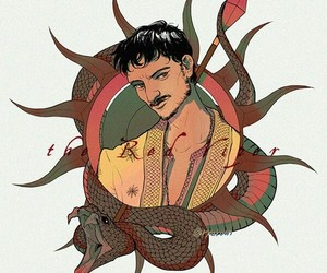 house martell, oberyn martell, and red viper image