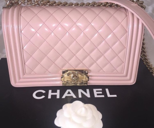 chanel, pink, and bag image