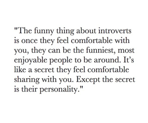 introvert and quote image