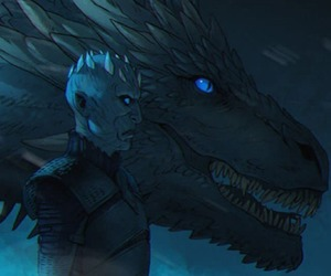 game of thrones, dragon, and viserion image