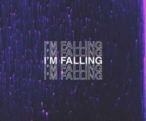 falling, purple, and love image