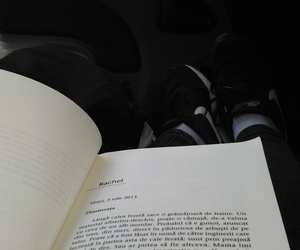 car ride, book, and nike image