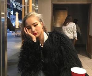 asian, girl, and grey image