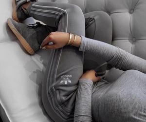 adidas, girl, and grey image