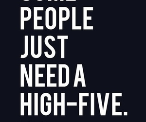 people, funny, and high-five image