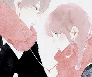anime, scarf, and couple image
