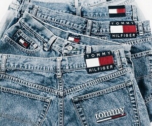 fashion, jeans, and tommy hilfiger image