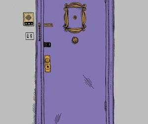friends, wallpaper, and door image