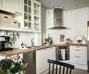 white, kitchen, and room image