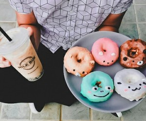 coffee, donuts, and drinks image