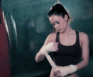 badass, boxing, and woman image