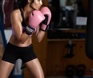 boxing, woman, and training image