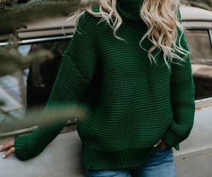 green, winter, and sweater image