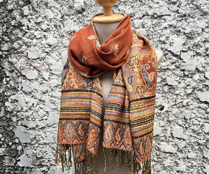 bohemian, gypsy, and scarves image