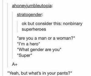 funny, pride, and superhero image