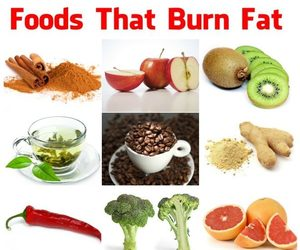 lose weight and foods that burn fat image