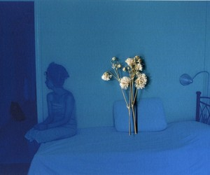 art photography, blue, and ghost loves flowers image