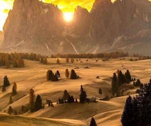 atardecer, paisaje, and belleza image