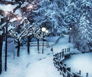 belleza, camino, and nieve image