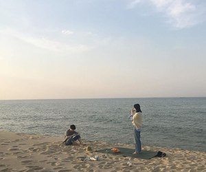 aesthetic, asian, and beach image