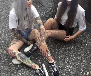 girl, tattoo, and alternative image