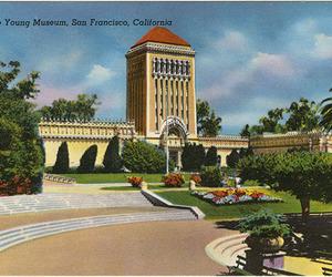 vintage postcard, art, and california image